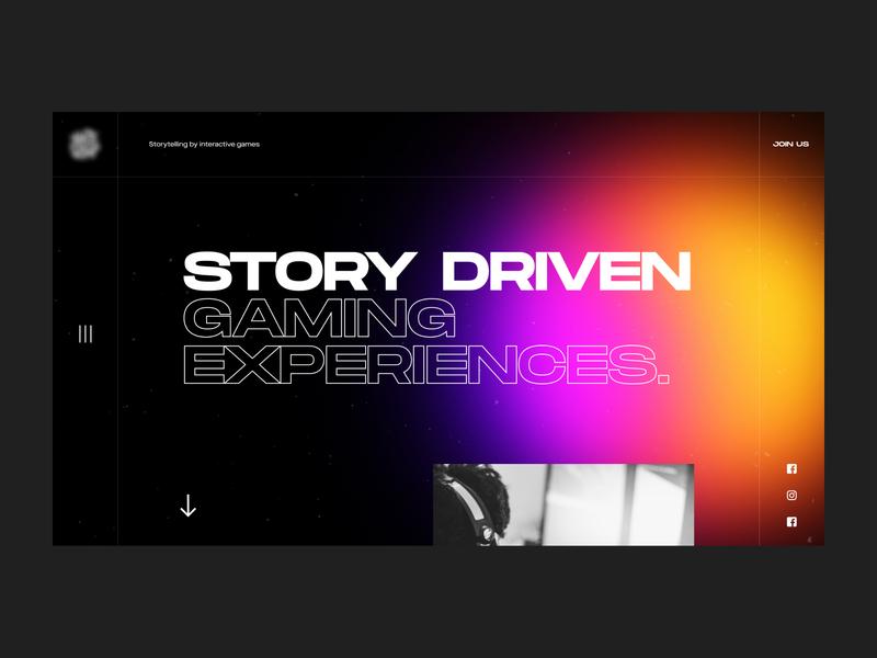 Hero mockup ux ui webdesign hero colorfull gaming extended big typography big type blur gradient