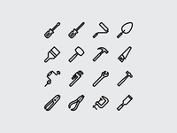 Workshop Tools Icon (Outline)