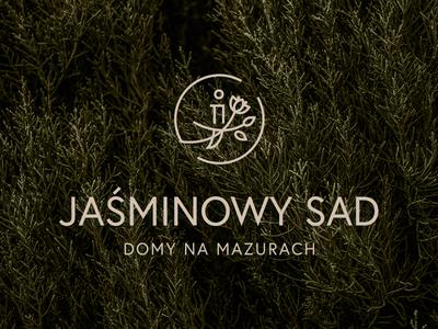 Jaśminowy Sad nature masuria housesforrent jasmine branding design logo