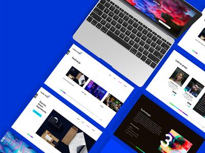 Media Shape Website ui ux website webdesign web