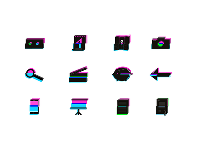 Media Shape visual identity branding icon pack icons set icons icon
