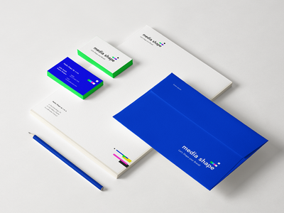 Media Shape visual identity businesscard branding materials visual identity