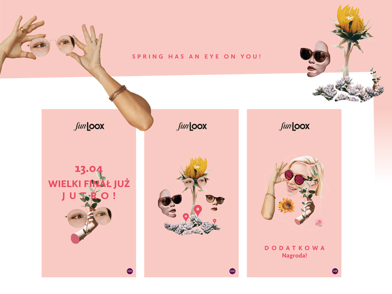 Spring Impressions SunLOOX campaign collage branding campaign optic