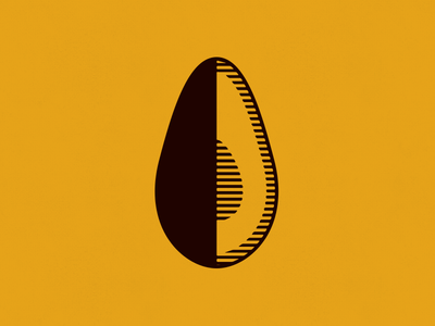 Avocado farmhouse avocado halftone lines