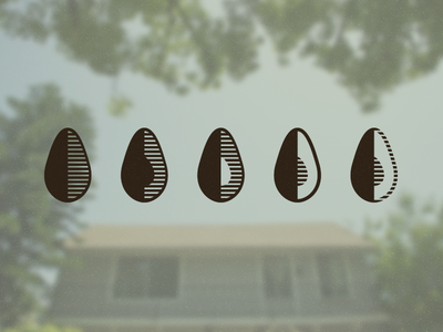 Farmhouse Avocado Exploration avocado logo icon halftone lines farmhouse la