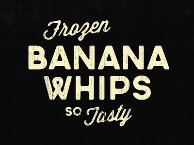 Banana Whips vintage tasty dessert type w