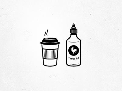 Fuel the Fire coffee sriracha fuel icons