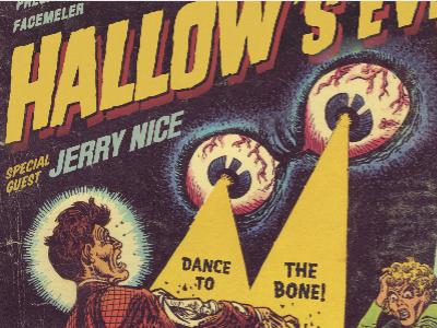 Dance to the bone! halloween flyer comic