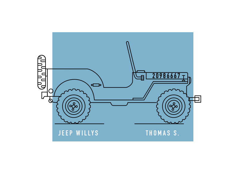 Jeep Willys jeep willys willys jeep typography design illustration