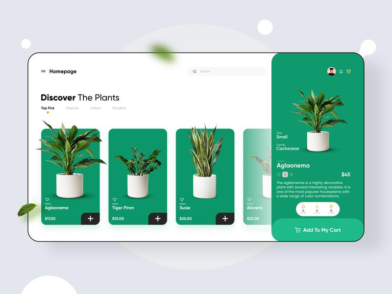 Plant Shop Web UI
