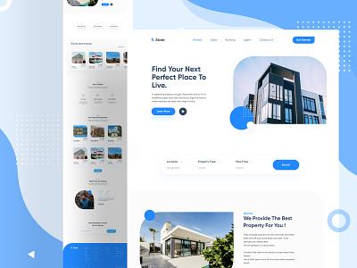 R  State Landing Page minimalist layout web design webdesign responsive rent rental property landing page landing page design landingpage realestate real estate figma interaction clean ui minimal clean ux ui