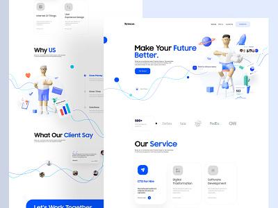 Byteaxe ux ui app clean minimal interaction layout uidesign design ui design illustration 3d illustration 3d art 3d trend 2021 landing page clean design dribbble best shot popular webdesign