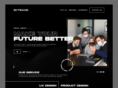 Digital Agency layout creative design homepage dribbble best shot 2021 trend clean ui ios app design vintage retro agency landing page header typogaphy web design product design landing page interaction ux ui