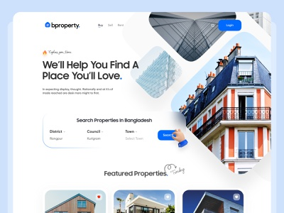 Bproperty - Real Estate Header Exploration 3d ui ux clean minimal interaction clean ui landing page layout uidesign header exploration property real estate dribbble best shot minimalism trendy design trend 2021 webdesign product design