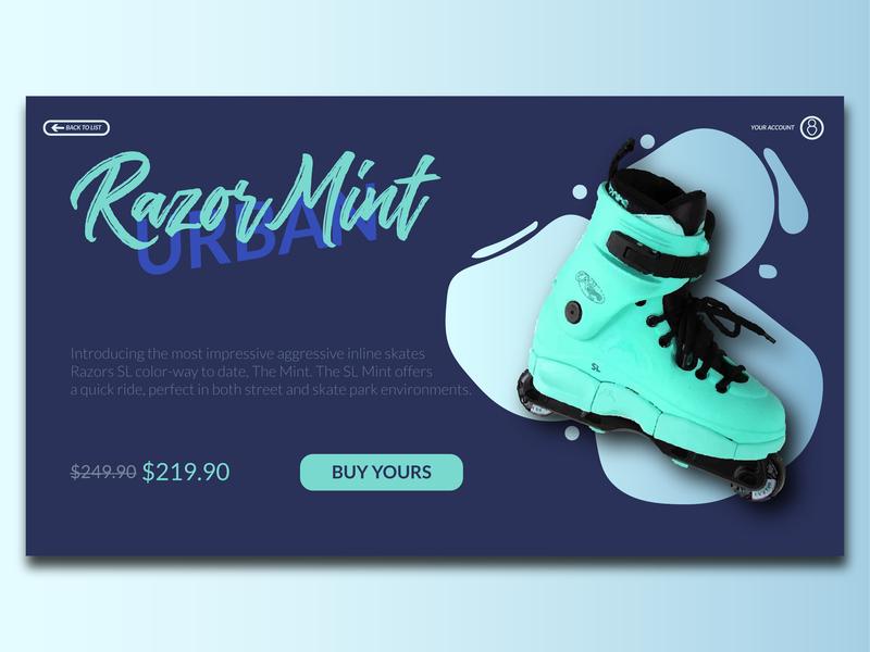 Urban skating UI product branding colorscheme mint addago prototype site skates user interface ui web