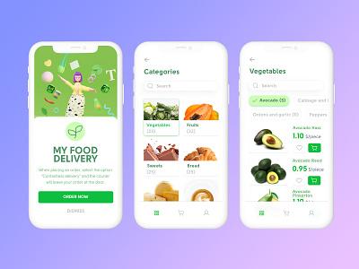 My Food Delivery app mobile app mobile logo branding design ui illustration