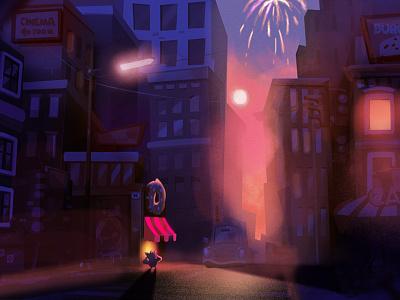 Illustration for cosial game for mobile Flitter Mouse 2d art illustration