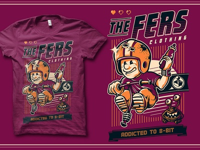 The Fers thefers the fers keen commander keen 8bit retrogames gamers tee teedesign bobmosquito bob-mosquito bob mosquito