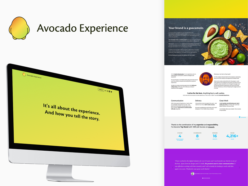 Avocado Experience Website animations webflow ux design experience design corporate identity webdesign