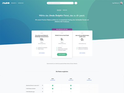 Pricing Product Page