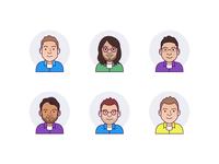 Employee avatars