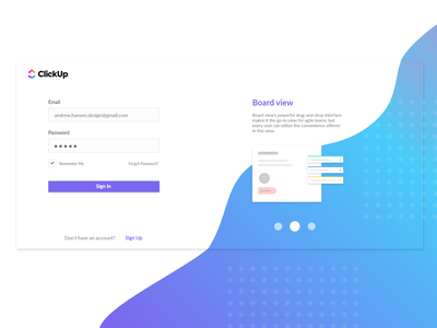 ClickUp Sign In ux ui