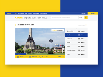Find Jobs in Your City experiencedesign uxdesign webdesign uidesign ux ui