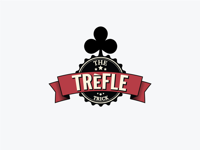 The Trefle Trick Logo logodesign logo card card  game poker branding ui colorpalette art icon vector illustration brandidentity