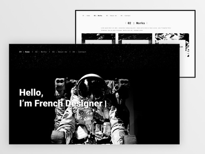Univers portfolio template sketch portfolio space