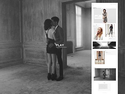 LOOKBOOK - The Kooples (Redesign) minimal art web ux ui brand ecommerce retail lookbook mode fashion