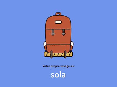 Backpack - sola outline minimal line backpack travel sola bagpack sketch illustration