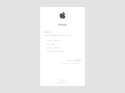 Invoice - Apple apple invoice clean simple ux ticket