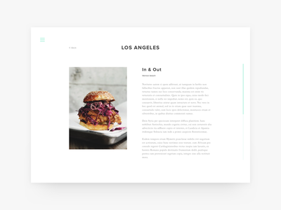 LOS ANGELES - PROJECT clean web ui typography sketch photography minimal layout editorial