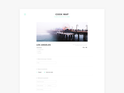 Cook map - Project ux clean web ui typography sketch photography minimal layout editorial