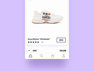 Slide to purchase button user interface mobile ios app animation ui ux button design design ecommerce swipe product card violet minimalistic smoke aftereffects motion particular glow button