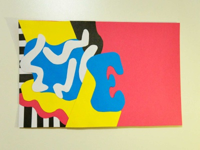 E quilibrio colorful typography handmade craft
