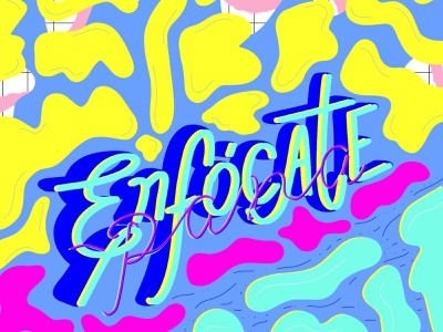 Focus linestyle lines typography ilustration abstract patterns colorful