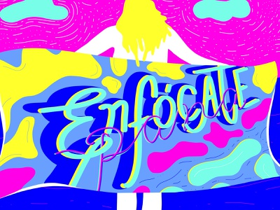 Es contigo! typography linestyle abstract patterns ilustration colorful