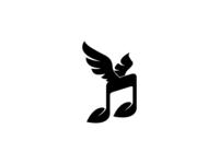 Leaf + Note +Wing's l Logo Design