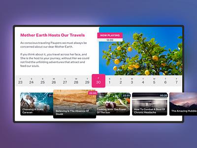 TV App Concept player media application tv app chromecast colors apple tv ui ux television tv