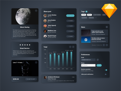 Info Cards Freebie freebie inputs tags news settings preferences list user share graph testimonial info card info products dashboard app design material design card ui