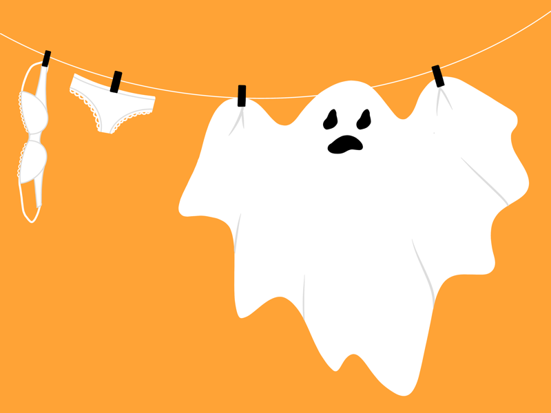 Preparing for Halloween colorful almosthalloween funny ghost illustration halloween