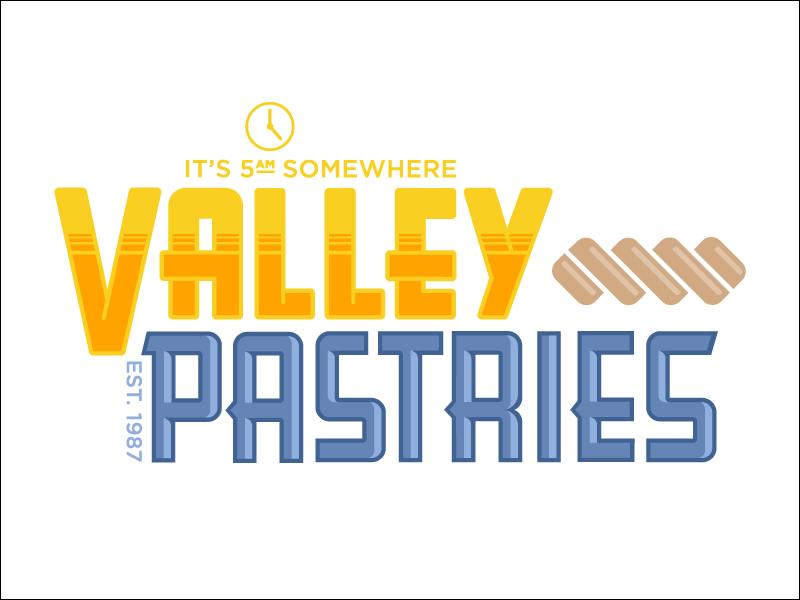 Valley Pastries outdoor sign update sign illustrator graphic design logo design logo
