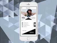 User Profile - Design Hire App