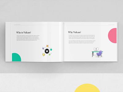 Vulcan Client Proposal Booklet typography web design print design illustration icons client stationery prints printing brand booklet book print