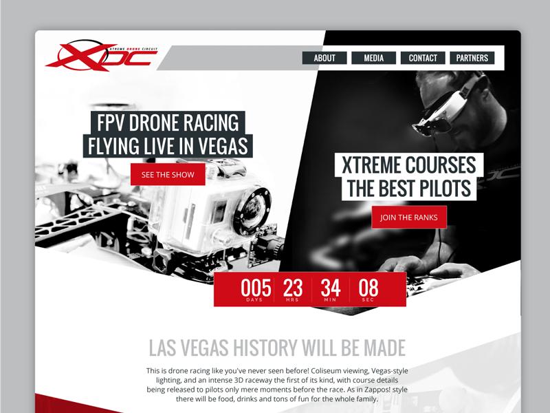 XDC Drone Racing – Promo Page nerdcore white black red promotion spectators pilot fpv racing drone xdc xdc drone racing