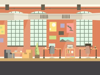 Vulcan Office Illustrations
