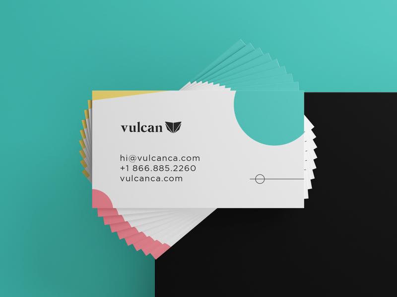 Vulcan Business Card fireart designs cuberto type businesscard ui logo typography icon branding vector ueno illustration focuslab design