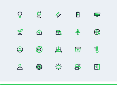 Electrical Icon Set