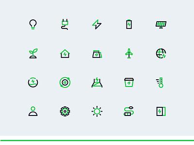 Electrical Icon Set figma illustraion illustrator ui electrician electrical electric logo icon artwork icon design iconography icon set icons icon